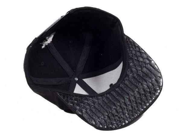 Zwarte Suede Snapback Cap