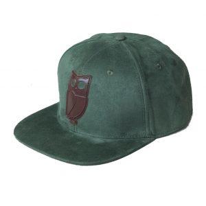 groene bruine uil pet green brown owl cap caps snapback suede amsterdam