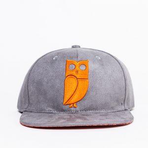 grijze oranje uil pet grey orange owl cap caps snapback suede amsterdam