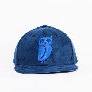 blauwe uil pet blue owl cap snapback suede amsterdam