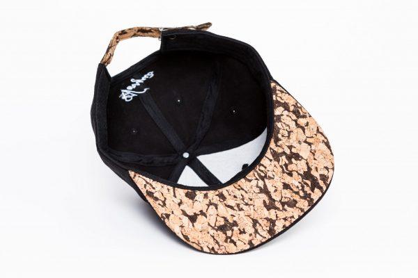 Zwart Kurk Suede Snapback Cap