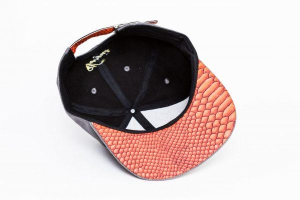 Grijs Oranje Suede Snapback Cap