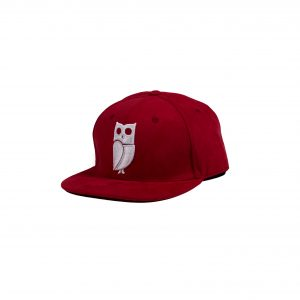 rode uil pet red owl cap snapback suede amsterdam