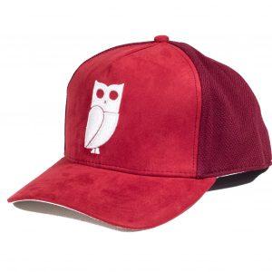 rode vogel uil pet red bird owl cap caps trucker suede memento amsterdam najib amhali uil van minerva