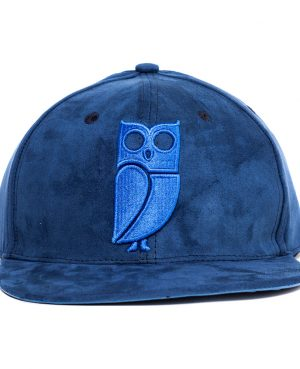 Blauw suede snapback cap. Uil. Beste kwaliteit. Veryus cycz 101 barz