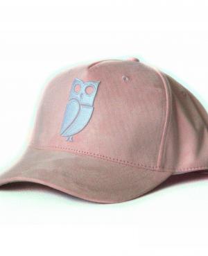 Roze baby pink baseball cap veryus kwaliteit suede uil owl eule