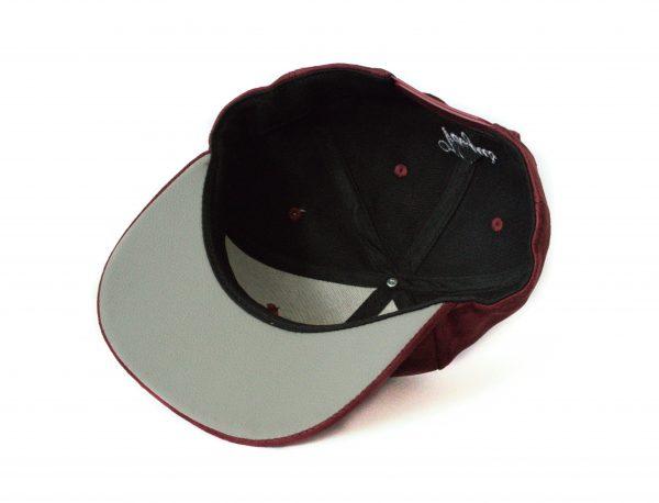Rode burgundy bordeaux snapback cap veryus suede kwaliteit
