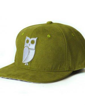Olijf groene olive green snapback cap veryus suede kwaliteit quality uil owl eule