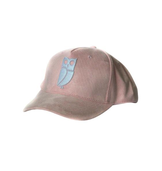 Roze Suede Uil Baseball Cap