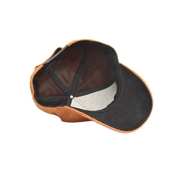 Bruine Corduroy Baseball Cap