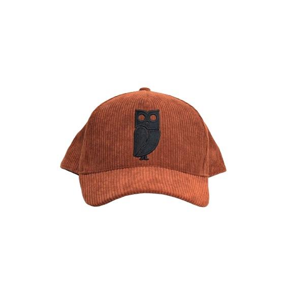 Bruine Corduroy Uil Baseball Cap